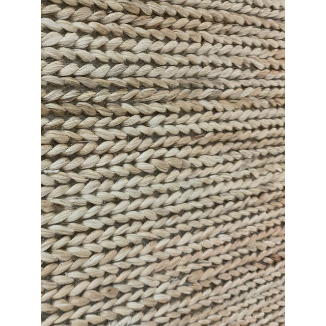 """Tan Hand Woven Jute Rug-5'5"""" X 7'10"""" For Sale - Image 8 of 9"""