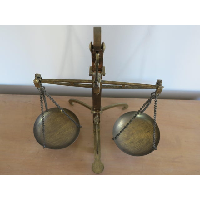 Early 19th Century Antique English Brass Bankers Scale For Sale In New York - Image 6 of 10