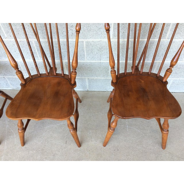 Tell City Maple Windsor Brace Back Dining Chairs - Set of 6 For Sale - Image 4 of 11