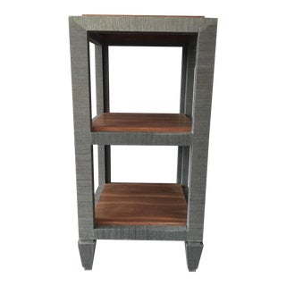 Bungalow 5 Grasscloth Side Table For Sale