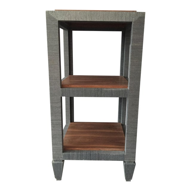 Bungalow 5 Grasscloth Side Table - Image 1 of 7