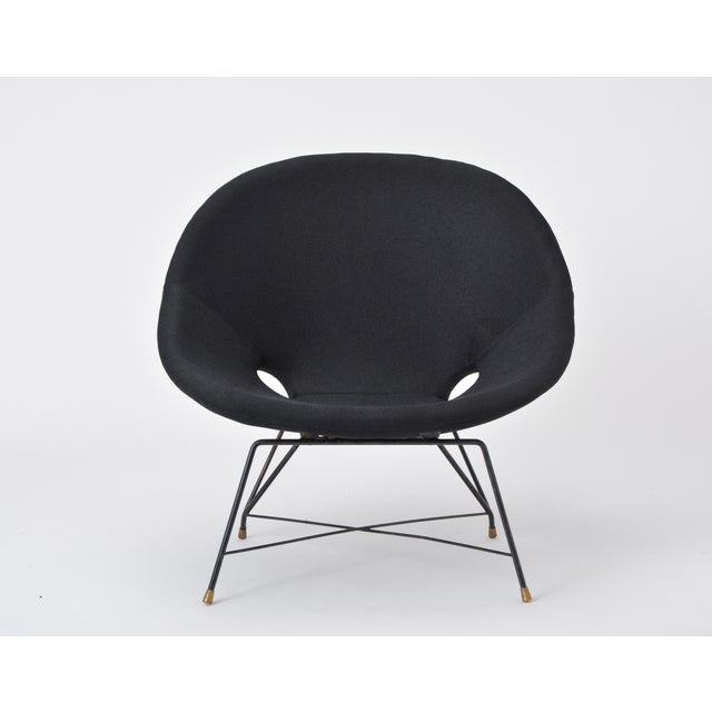 Black Black Italian Cosmos Lounge Chair by Augusto Bozzi for Saporiti For Sale - Image 8 of 11