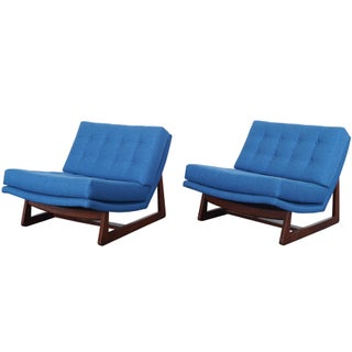 Vintage Tufted Lounge Chairs For Sale