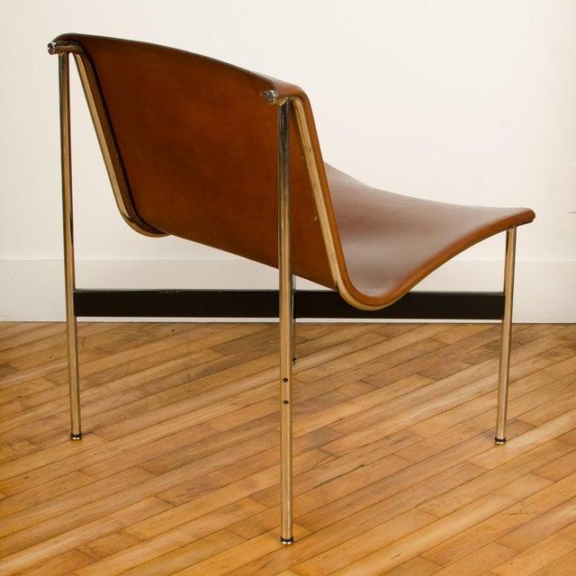 Katavolos, Littel, & Kelly Mid Century Katavolos Littell and Kelley Designed Leather Tan Chair For Sale - Image 4 of 7