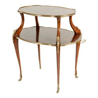 Mid-19th Century Bronze Mounted Dessert Table or Side Table For Sale