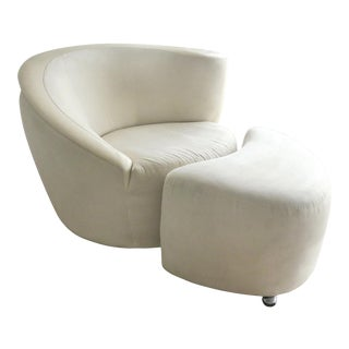 Nautilus Chair & Ottoman by Vladimir Kagan for Directional-Set of 2 For Sale