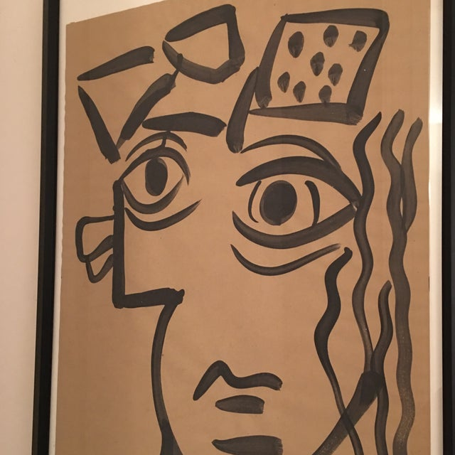 Peter Keil 1964 Cubist Abstract Face Painting by Peter Keil For Sale - Image 4 of 8