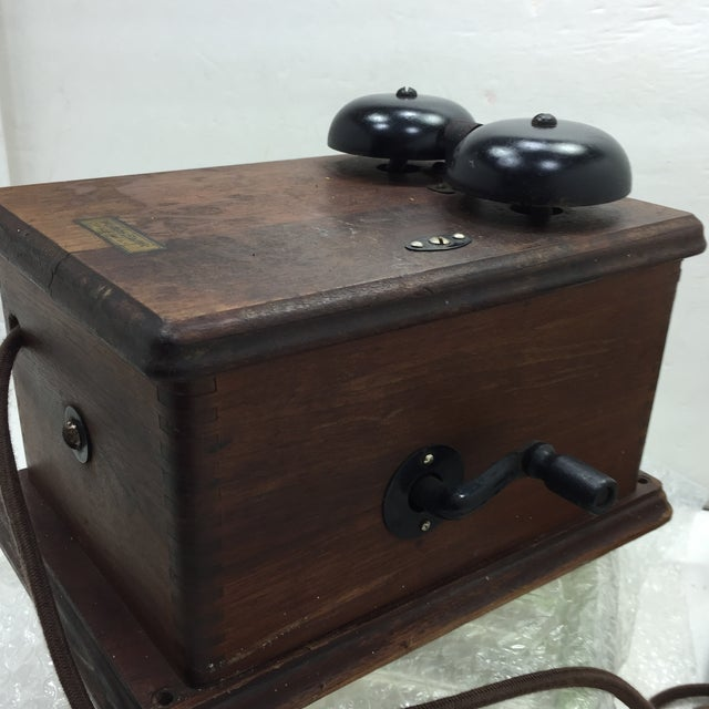 Antique 1920s Western Electric A1 Rotary Dial Telephome - Image 4 of 11