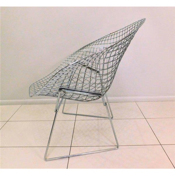 Original Bertoia Diamond Wire Chair in Chrome by Knoll - Image 4 of 9
