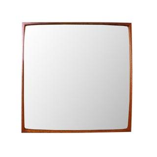 Vintage Danish Modern TH Poss' EFTF Teak Concave Wall Mirror