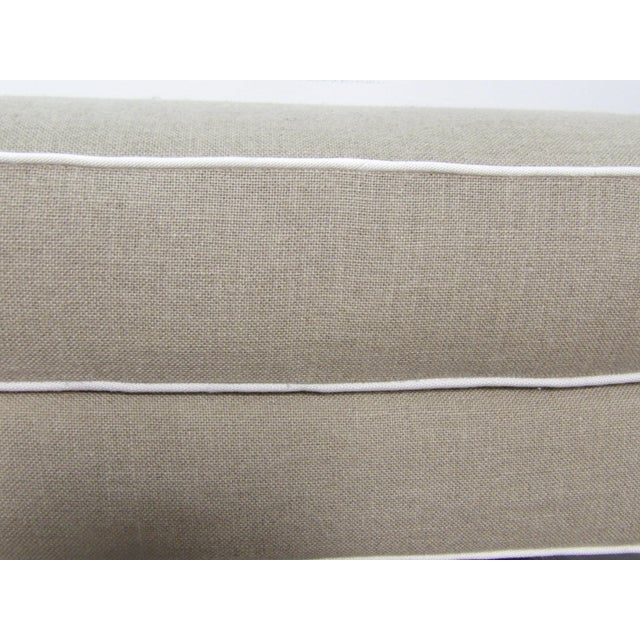 Baker Furniture Ottomans in New Upholstery- a Pair For Sale In West Palm - Image 6 of 9
