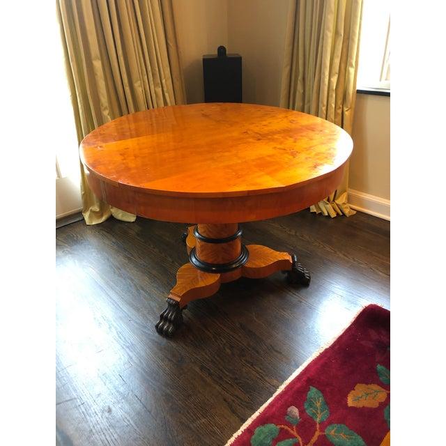 Antique Biedermeier Round Center Table For Sale - Image 13 of 13