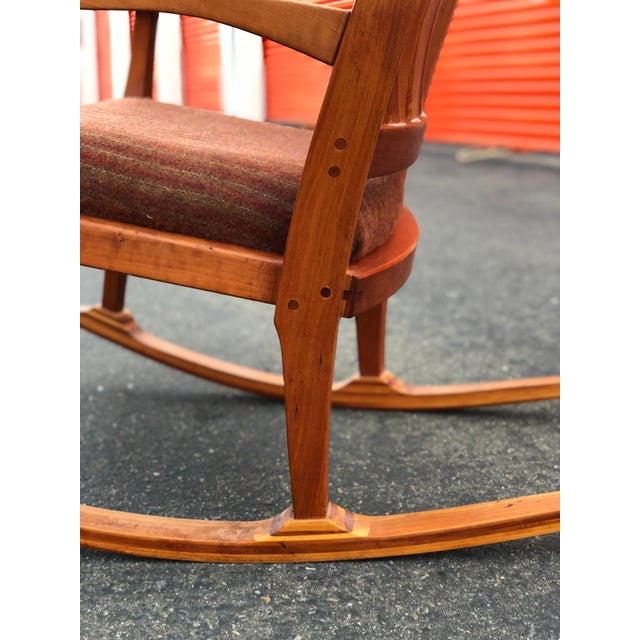 1960s Vintage Mid Century Studio Crafted Rocking Chair For Sale - Image 5 of 13