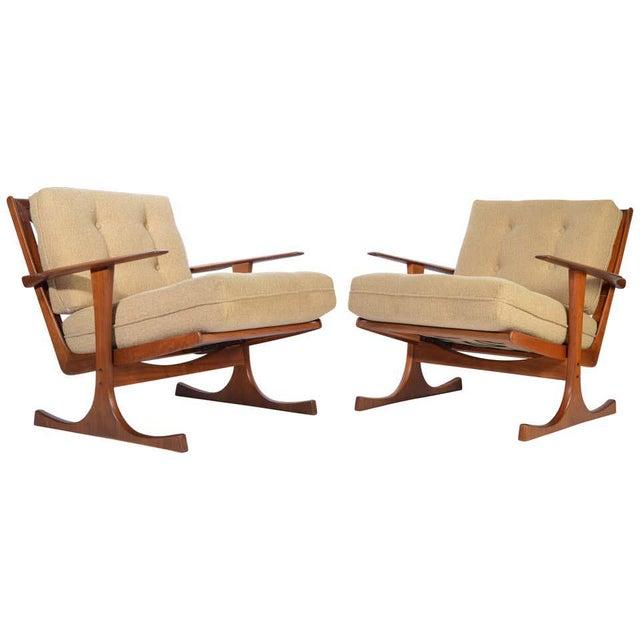Ib Kofod-Larsen for Selig Denmark Lounge Chairs in Teak For Sale - Image 11 of 11