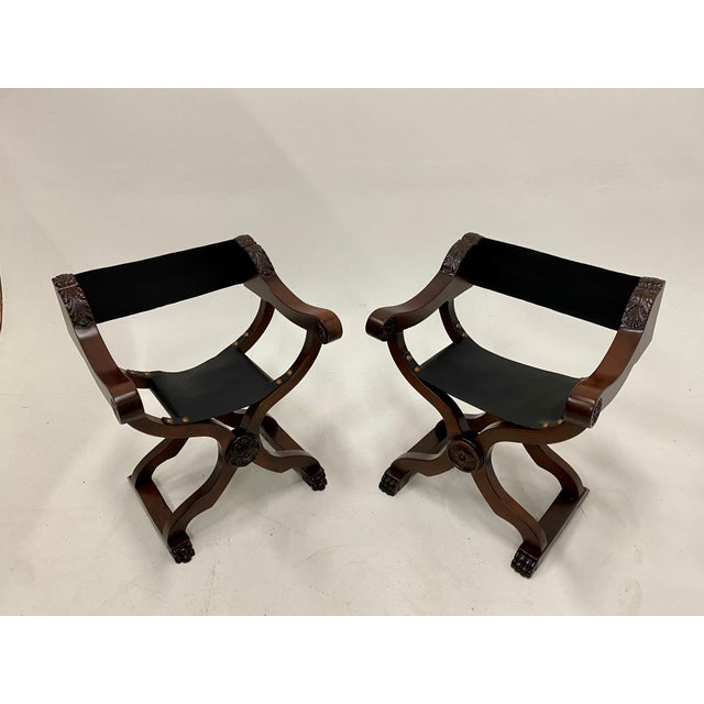 Newly Restored Italian Baroque Style Savaranola Chairs -Pair For Sale - Image 13 of 13