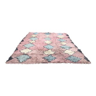 1960s Antique Handknotted Turkish Rug- 9′4″ × 12′2″ For Sale