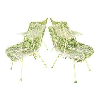 Sculptura Metal Mesh Dining Chairs by Russell Woodard, Unmarked - Set of 4 For Sale