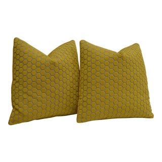 Custom Honey Comb Pillows - a Pair