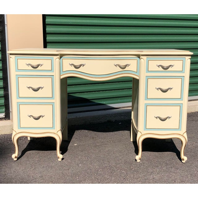 Drexel French Provincial Desk Vanity For Sale - Image 10 of 10