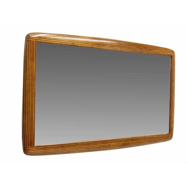 Two Tone Ebony Striped Wall Mirror - Image 2 of 8