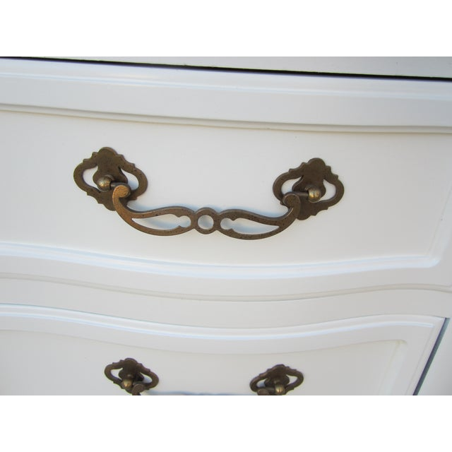 Drexel White Vintage French Country Dresser - Image 4 of 9
