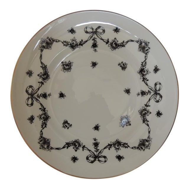 Royal Victoria English White and Black Bone China Dessert Plate For Sale