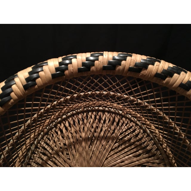 Rattan Wicker Plant Stand For Sale - Image 5 of 9
