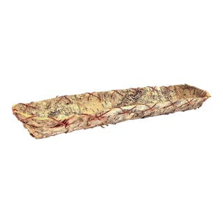 Rustic Birch Bark Display Tray For Sale