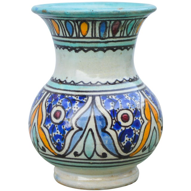 Islamic Antique Andalusian Ceramic Vase For Sale - Image 3 of 10