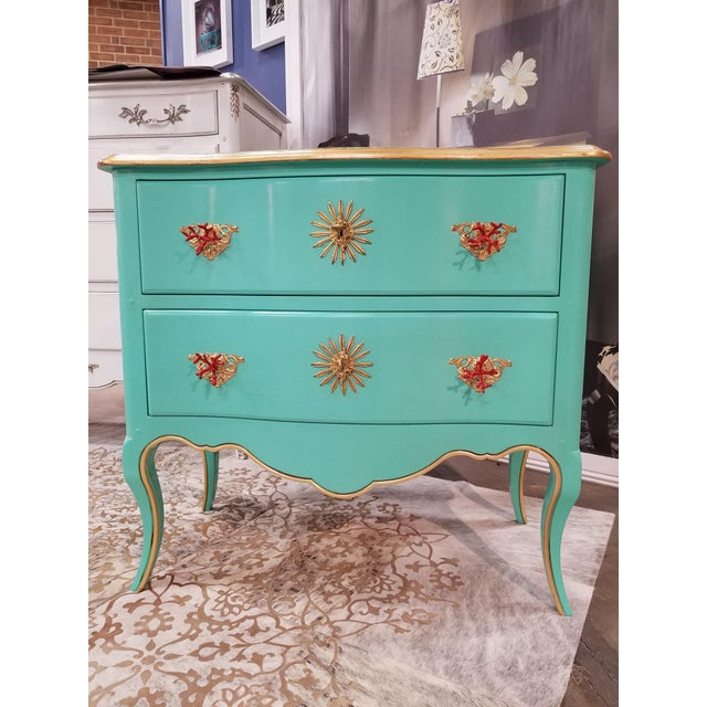 Italian Solid Cherry Chest of Drawers / Console For Sale - Image 10 of 10