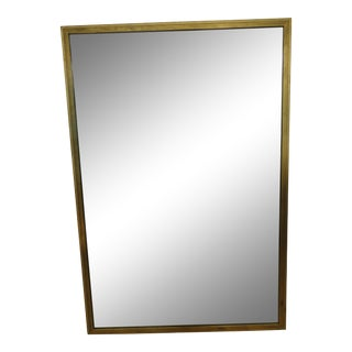 Large French Mid-Century Gold Leaf Mirror After Jean Michel Frank For Sale