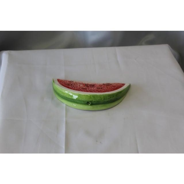 Italian Italian Ceramic Large Slice Watermelon For Sale - Image 3 of 5