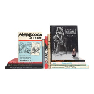 Cartoons of the Twentieth Century Book Collection - Set of 12 For Sale