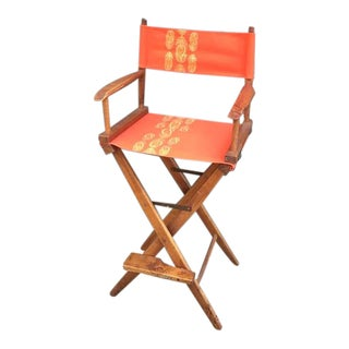 1960s Vintage Folding Wood Director's Chair For Sale
