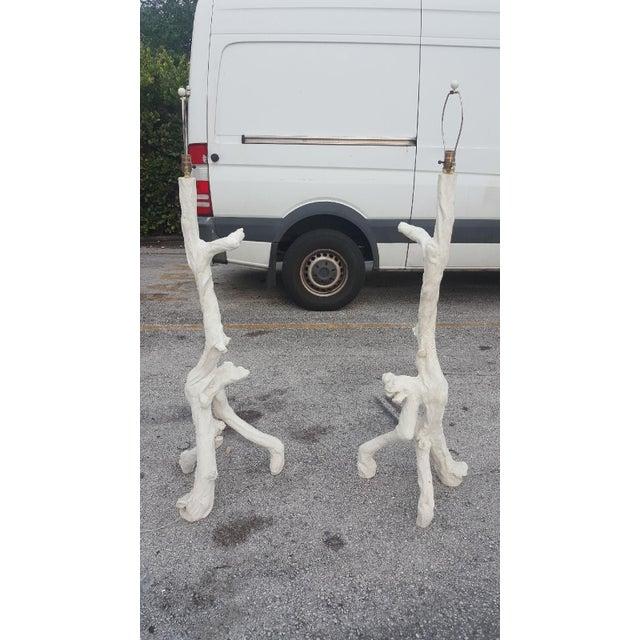Faux Bois Floor Lamps - a Pair For Sale - Image 4 of 4