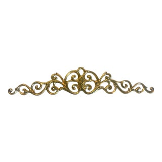 Vintage Solid Brass Scrollwork Sculptural Wall Object For Sale