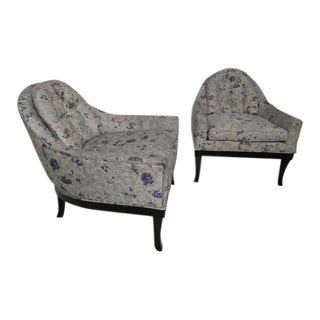 Grand Rapids Furniture Co. Barrel Back Arm Chairs - A Pair For Sale