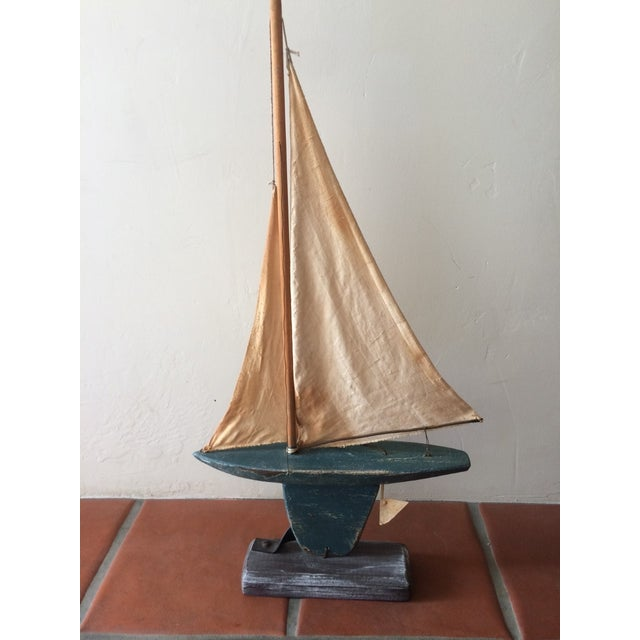 Rustic Wooden Sailboat - Image 4 of 6