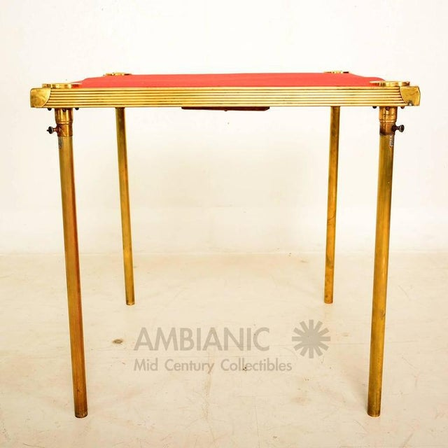 For your consideration a one of kind game table made in France, circa 1930s. The construction is made of brass and wood...