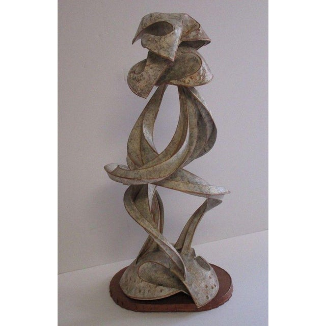 Expressionist Abstract Metal Sculpture For Sale - Image 10 of 13