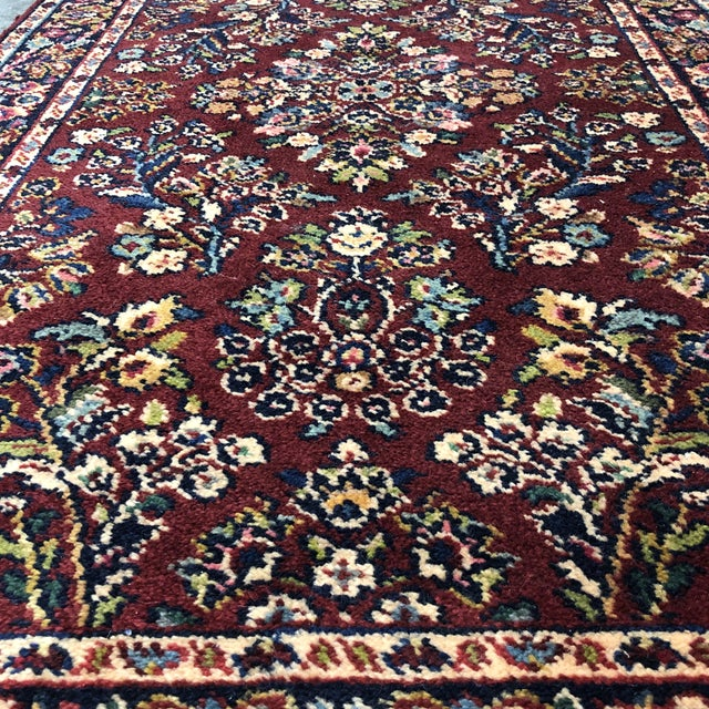 Red 2ft6in × 5ft2in Karastan Red Sarouk Area Rug For Sale - Image 8 of 13