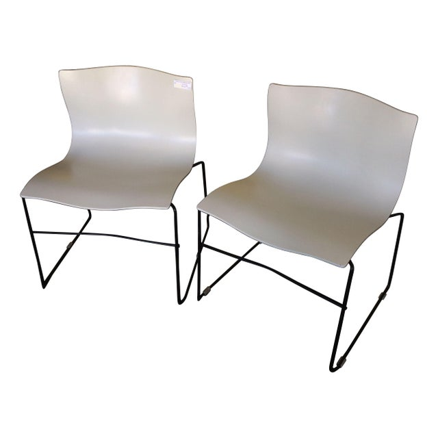 Knoll Vignelli Handkerchief White Chairs- Set of 4 - Image 1 of 6