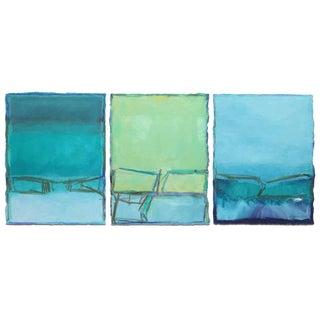 Doreen Noar Triptych - Oil on Paper For Sale