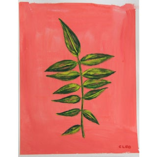 Botanic Contemporary Tropical Leaves Painting by Cleo Plowden For Sale