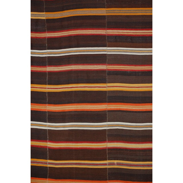 A beautifully woven wool stripe Jajim from the tribal areas of the Caucasian mountains. Jajims are woven textiles, more...