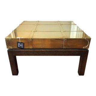 Sarreid Brass Clad Cocktail Table For Sale