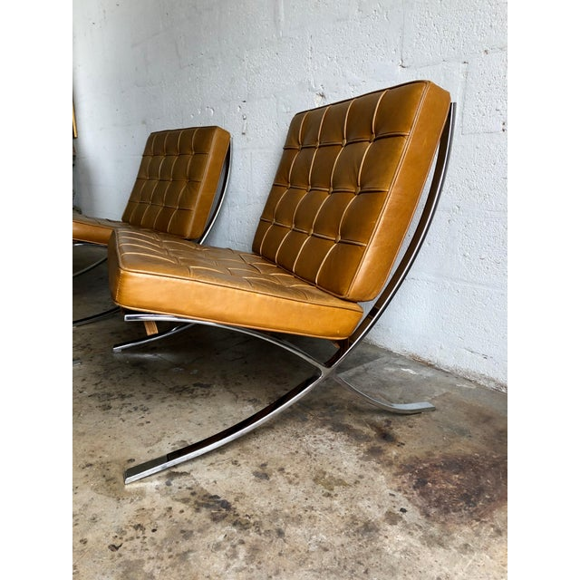 Bauhaus A Set of Two Vintage Barcelona Style Chairs For Sale - Image 3 of 10