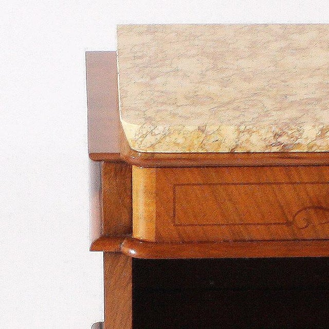 Pair of Art Deco Side Tables With Marble Top, C. 1930 For Sale - Image 4 of 6