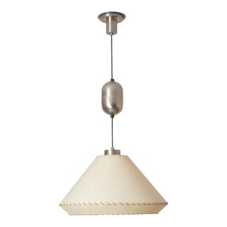 Nickel Pulley Ceiling Lamp, Switzerland For Sale