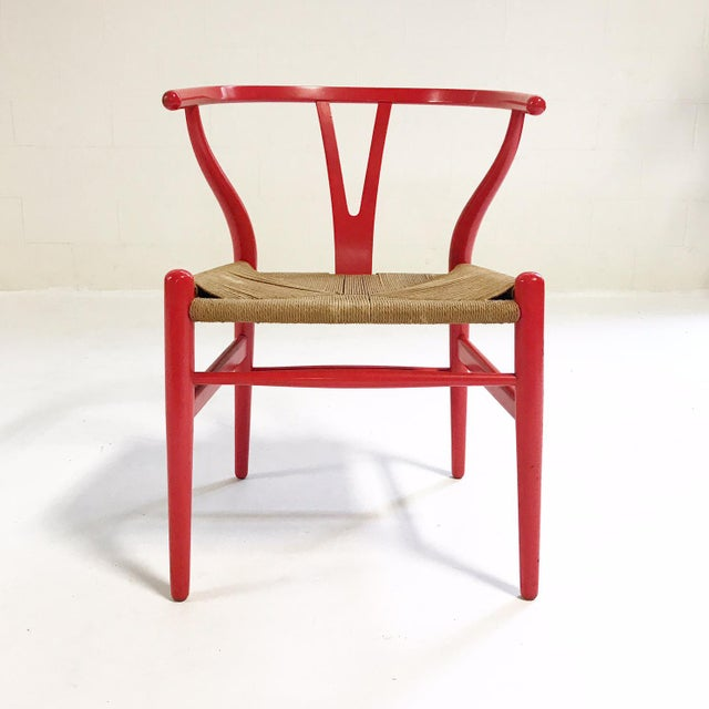 Danish Modern Vintage Hans Wegner Model Ch24 Wishbone Chair For Sale - Image 3 of 8